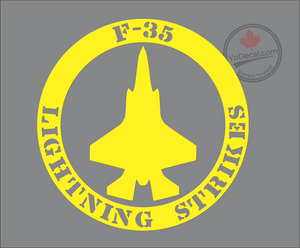 'F-35 Lightning Strikes' Premium Vinyl Decal