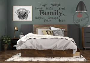 'Family is... Word Cloud 1' Premium Vinyl Wall Decal