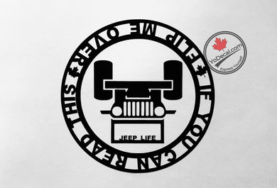 'Flip Me Over - Jeep' Premium Vinyl Decal