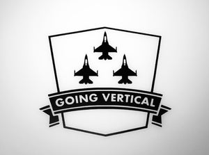 'Going Vertical F-16's' Premium Vinyl Decal