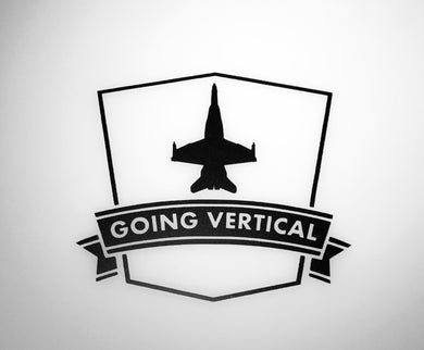 'Going Vertical F-18 Hornet' Premium Vinyl Decal