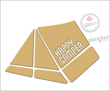 'Happy Camper Tent Modern' Premium Vinyl Decal