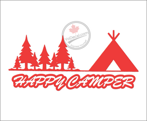 'Happy Camper' Premium Vinyl Decal