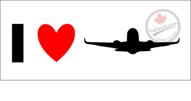 'I Love Commercial Aviation' Premium Vinyl Decal