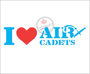 'I Love Air Cadets (with Glider)' Premium Vinyl Decal