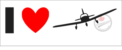 'I Love Flying General Aviation' Premium Vinyl Decal
