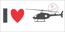 'I Love Helicopters' Premium Vinyl Decal