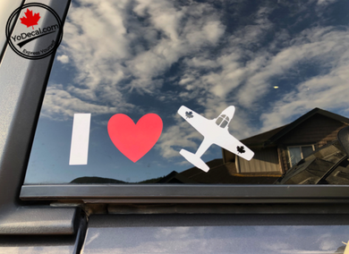 'I Love the Canadian Snowbirds' Premium Vinyl Decal