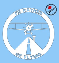 'I'd Rather Be Flying' Premium Vinyl Decal