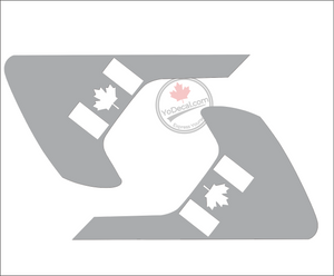 'Canadian Flag 1 - Jeep JL/JT Fenders (Pair)' Premium Vinyl Decal