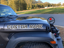 'Custom Name 2 Colour Crafted Jeep 'Willys' Style (Pair)' Premium Vinyl Decal