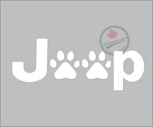 'Jeep Paws' Premium Vinyl Decal