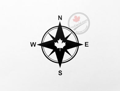 'Canadian Compass Rose' Premium Vinyl Decal