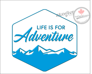 'Life is for Adventure' Premium Vinyl Decal