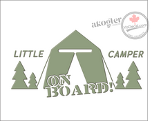 'Little Camper on Board' Premium Vinyl Decal