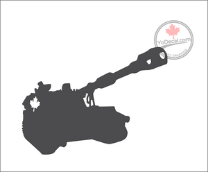 'M109 155mm Self-Propelled Howitzer Canadian' Premium Vinyl Decal