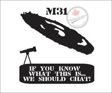'M31 Andromeda Galaxy' Premium Vinyl Decal