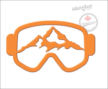 'Mountain Ski Goggles' Premium Vinyl Decal