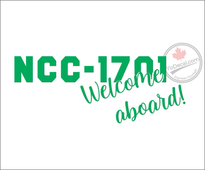 'NCC-1701 Welcome Aboard' Premium Vinyl Decal