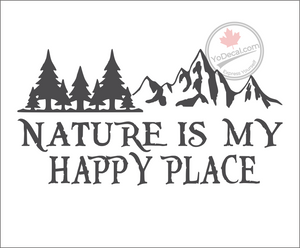 'Nature is my Happy Place' Premium Vinyl Decal