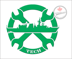 'Naval Tech' Premium Vinyl Decal