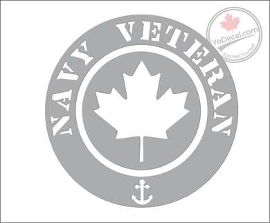 'Navy Veteran' Premium Vinyl Decal