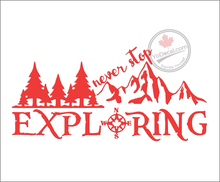 'Never Stop Exploring' Premium Vinyl Decal