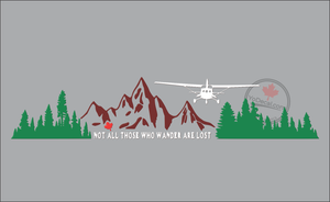'Not All Those Who Wander Are Lost - Cessna' Premium Vinyl Decal
