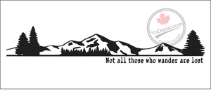 'Not All Those Who Wander Are Lost - Dash or Wall' Premium Vinyl Decal