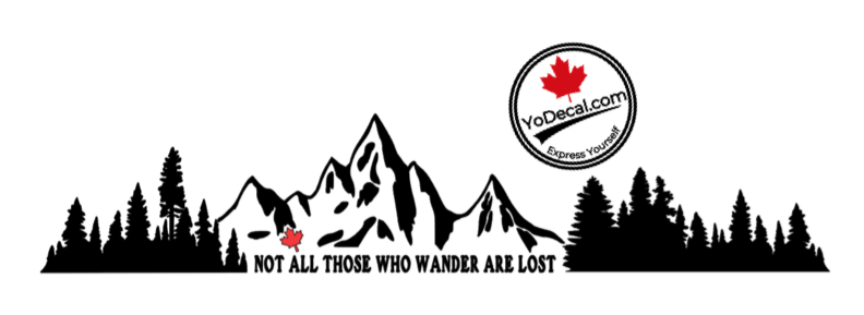 'Not All Those Who Wander Are Lost - LARGE 28inch Combo Pack' Premium Vinyl Decal