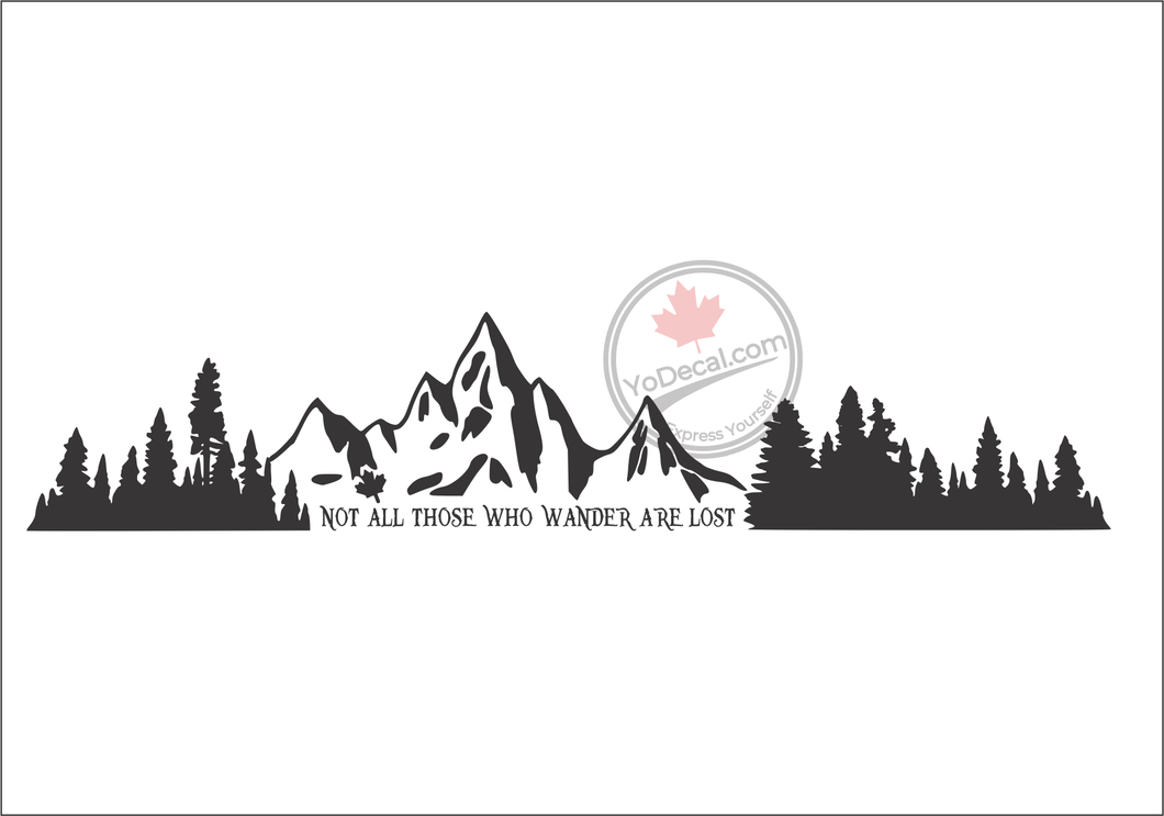 'Not All Those Who Wander Are Lost' Premium Vinyl Wall Decal