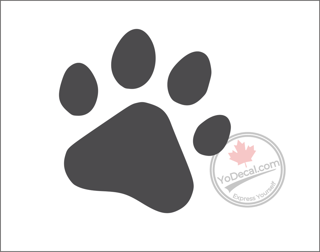 'Paw Print' Premium Vinyl Wall Decal