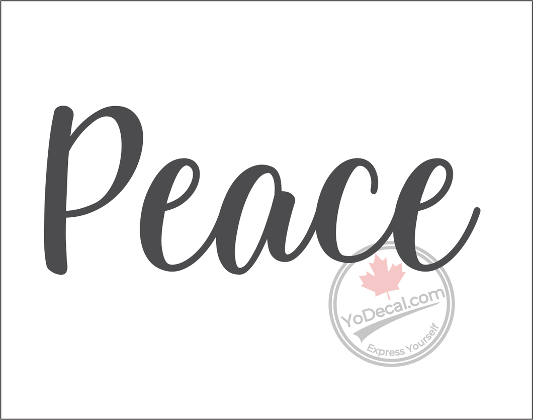 'Peace - Relaxed Modern' Premium Vinyl Wall Decal