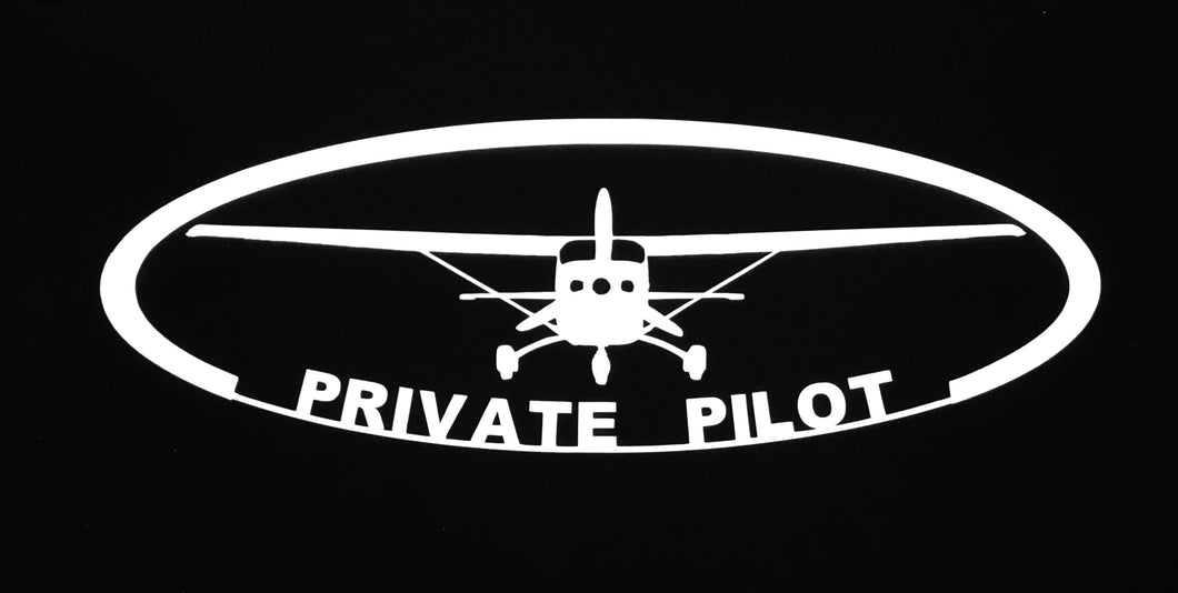 'Private Pilot Oval' Premium Vinyl Decal