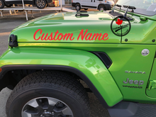 'Custom Name 1 Colour ScriptSP (Pair)' Premium Vinyl Decal