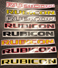 '2 Colour Crafted Jeep 'RUBICON' (Pair)' Premium Vinyl Decal