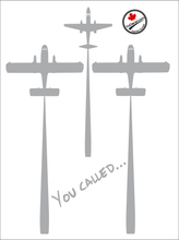 'BirdDog and Tanker Formation - You Called...' Premium Vinyl Decal