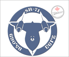 'SR-71 Blackbird Records' Premium Vinyl Decal