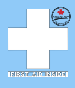 'First Aid Inside' Premium Vinyl Decal