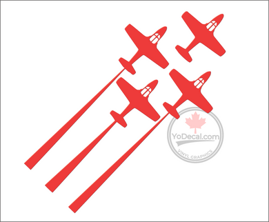 'Snowbirds CT-114 Tutor Formation' Premium Vinyl Decal
