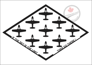 'If The Sky Is The Limit CT-114 Tutor' Premium Vinyl Decal