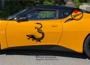 'Dragon Descent (Pair)' Premium Vinyl Decal