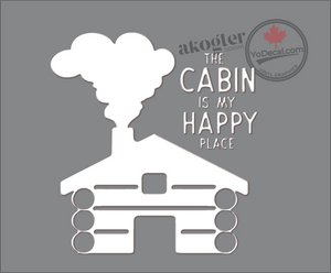 'The Cabin Is My Happy Place' Premium Vinyl Decal