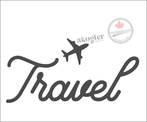'Travel Airplane' Premium Vinyl Wall Decal