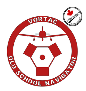 'VORTAC Old School Navigator' Premium Vinyl Decal