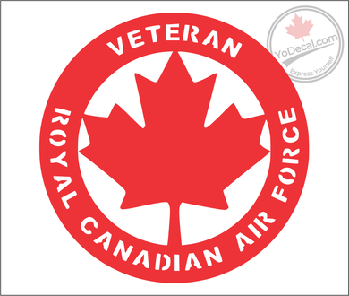 'Veteran Royal Canadian Air Force' Premium Vinyl Decal