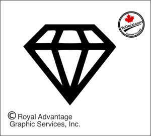 'Diamond' Premium Vinyl Decal