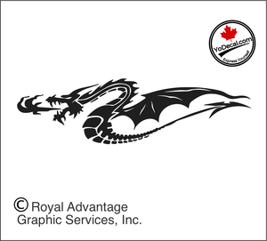 'Dragons Fire (Pair)' Premium Vinyl Decal