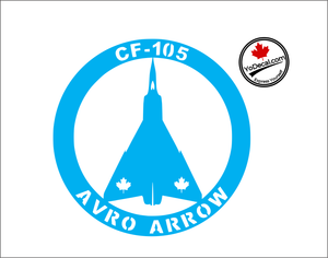 'CF-105 Avro Arrow' Premium Vinyl Decal