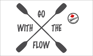 'Go With The Flow Kayaking' Premium Vinyl Decal
